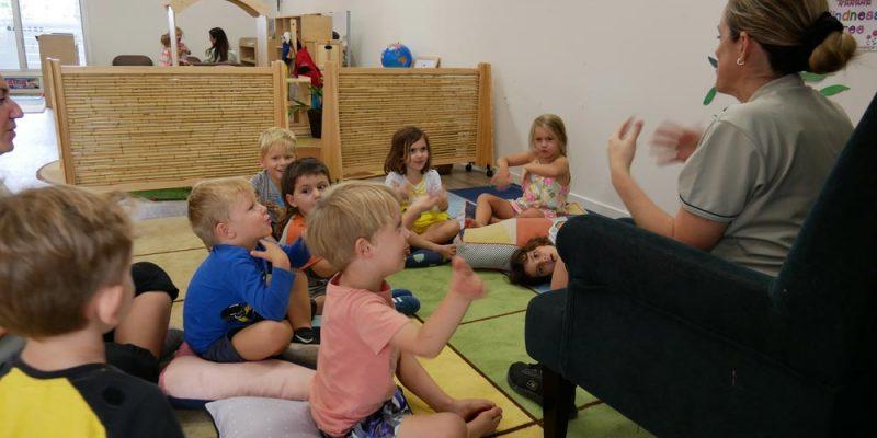 Fun story-telling - Okinja ELC Coolum childcare