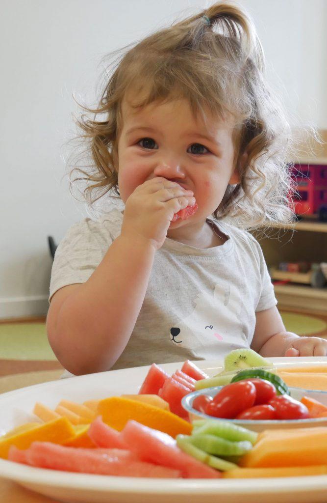 Child Eating Fruits - Okinja Early Learning